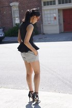 H&M top - Club Monaco shorts - Ray Ban sunglasses - Jimmy Choo heels