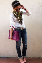 Salvatore Ferragamo bag - Guess jeans - Gap sweater