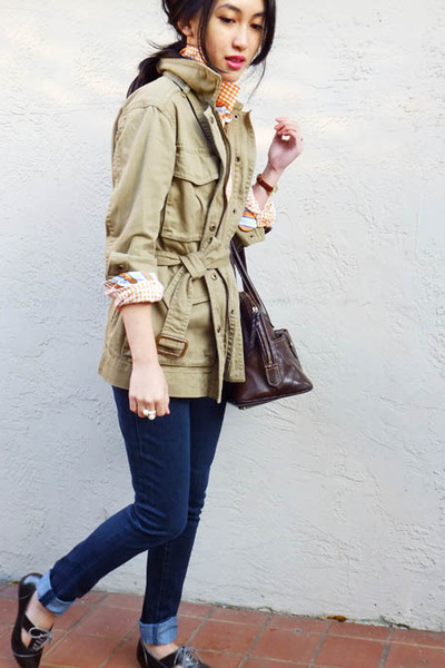 J Crew jacket - joes jeans - Thomas Dean shirt - Aldo flats