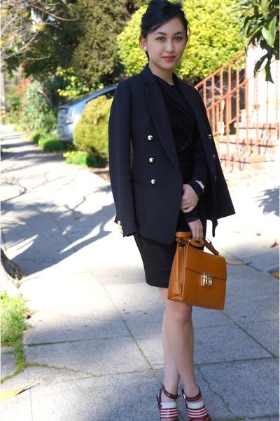 Salvatore Ferragamo bag - t by alexander wang dress - 31 Phillip Lim blazer