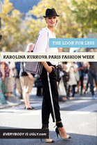 Look for Less: Karolina Kurkova during Paris Fashion Week