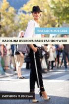 Look for Less: Karolina Kurkova during Paris Fashion Week