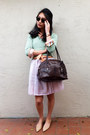 Burberry-dress-f21-sweater-thomas-dean-shirt-dooney-burke-bag