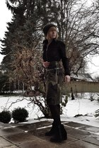 black leather belt Zara belt - for winter Even & Odd boots