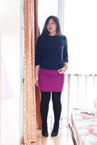 H&M skirt - Forever21 boots - H&M sweater - Forever21 shirt