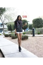 Lucky Brand boots - Ralph Lauren bag - DIY shorts - Zara top