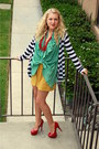 Aquamarine-silk-jonesy-blouse-navy-splendid-cardigan-gold-american-apparel-s