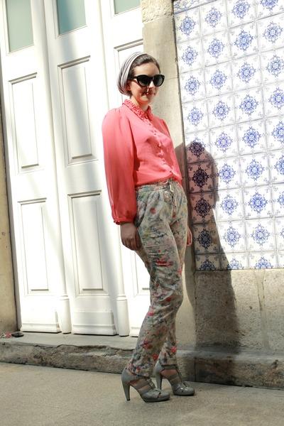 Zara pants - Primark blouse - zilian heels