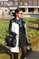 Zara jacket - Parfois bag - Zara necklace - H&M jumper - Zara skirt