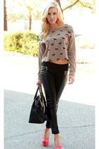 sweater - leggings - bag - pumps