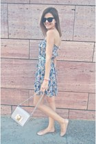 light pink pink woman dress - periwinkle H&M bag - black Ralph Lauren sunglasses
