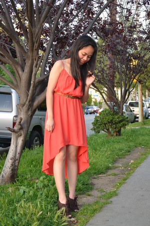 coral dress dress - Kenneth Cole shoes