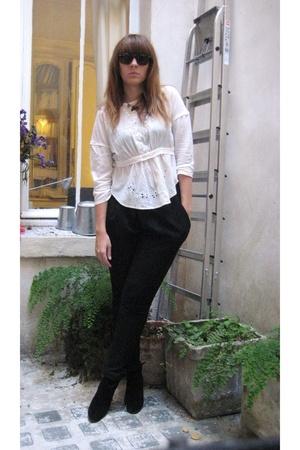 Zara pants - Isabel Marant top - Isabel Marant shoes