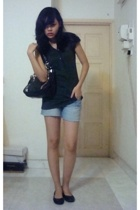 Seduce top - shorts - Topshop purse - shoes