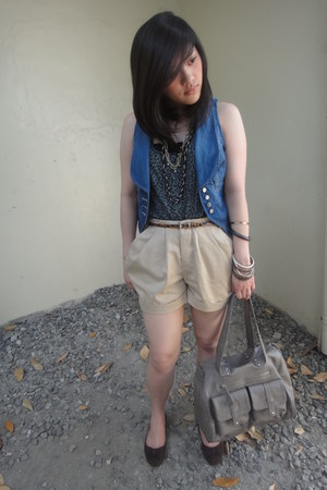 Zara bag - Mango vest - Forever 21 top - Forever21 belt - Forever 21 accessories