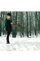 H&M dress - H&M sweater - Forever21 leggings - Aldo boots - H&M hat