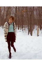 Aldo shoes - H&M sweater - patterned Goodwill sweater - H&M tights - Forever21 s
