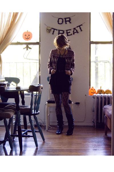 purple H&M jacket - black H&M shorts - black Aldo boots - blue Topshop top