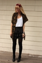 Urban Outfitters skirt - Forever21 shirt - H&M scarf - accessories - thrifted ac