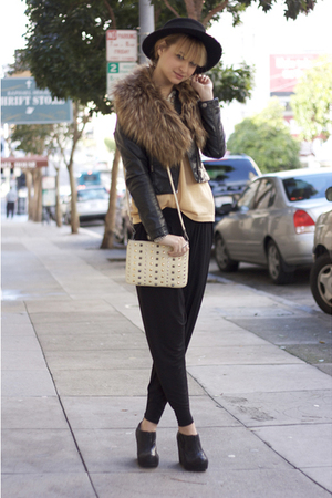 black Cheap Monday pants - beige Rebecca Minkoff purse