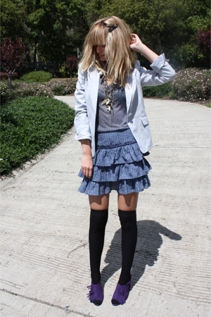 Chinese Laundry shoes - Urban Outfitters skirt - H&amp;M blazer - H&amp;M stockings - sh
