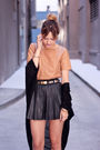 Beige-h-m-top-black-zara-skirt-black-american-apparel-sweater