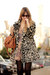 peach Topshop dress - beige H&M coat - tawny Zara bag - brown YSL sunglasses
