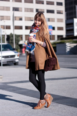 navy H&amp;M scarf - tawny H&amp;M shoes - tawny Zara jacket