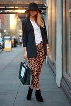 blue bird by juicy couture blazer - brown asos pants - white t by alexander wang