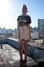 Beige-storets-skirt-black-vintage-t-shirt-beige-gap-shoes-beige-h-m-belt-