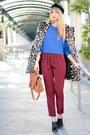 Ruby-red-asos-pants-blue-asos-sweater-black-alexander-wang-wedges
