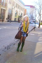 Old Navy boots - Forever 21 shirt - Charlotte Russe scarf - H&M bag - Charlotte