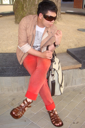 Reiss jacket - Zara t-shirt - John Galliano jeans - Poste shoes - Zara purse - c