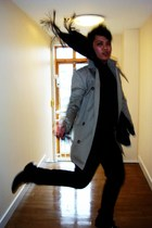All Saints coat - Topman shirt - Topman pants - Burberry scarf - Bertie shoes -