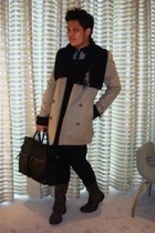 All Saints sweater - All Saints coat - All Saints vest - Zara pants - All Saints