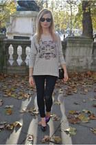 Topshop jeans - Zara jumper - H&M heels