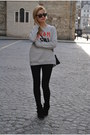 Black-topshop-jeans-heather-gray-rika-sweatshirt