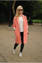 Topshop coat - Converse shoes - Topshop jeans - Mango top