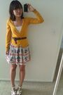 Yellow-h-m-sweater-white-top-brown-calvin-klein-belt-white-self-made-skirt