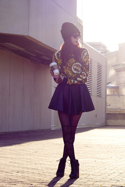 yellow tiger Topshop sweater - black Alexander Wang boots