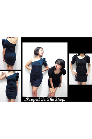 black popped to the shop PTTS dress - blue popped to the shop PTTS dress