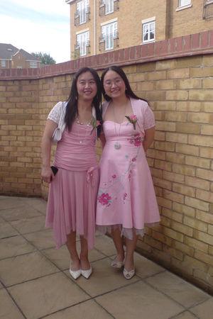 pink cheap shop in birmingham cardigan - pink bay trading dress - beige BHS shoe