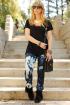 Accessorize necklace - tie dye Cheap Monday jeans - coach bag