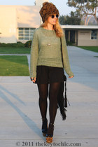 100 denier H&M tights - faux fur layla Albertus Swanepoel for Target hat