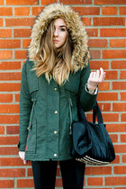 parka Sheinside jacket - studded Joy bag - rose gold Daniel Wellington watch