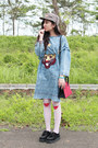 Black-spiked-creepers-new-look-shoes-sky-blue-oversized-denim-choiescom-dress