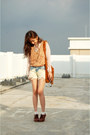 Beige-sheer-shirt-tawny-fringe-bag-light-blue-diy-ombre-jeans-shorts-eggsh