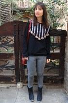 Zara sweatshirt - Marypaz boots - Primark jeans - Primark bag