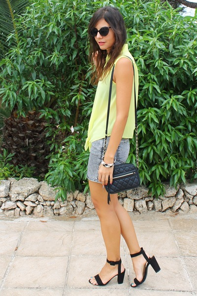 Forever 21 shirt - H&M skirt - Zara sandals