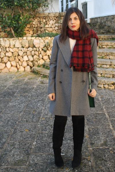 Zara scarf - Zara boots - Zara coat - Zara jumper